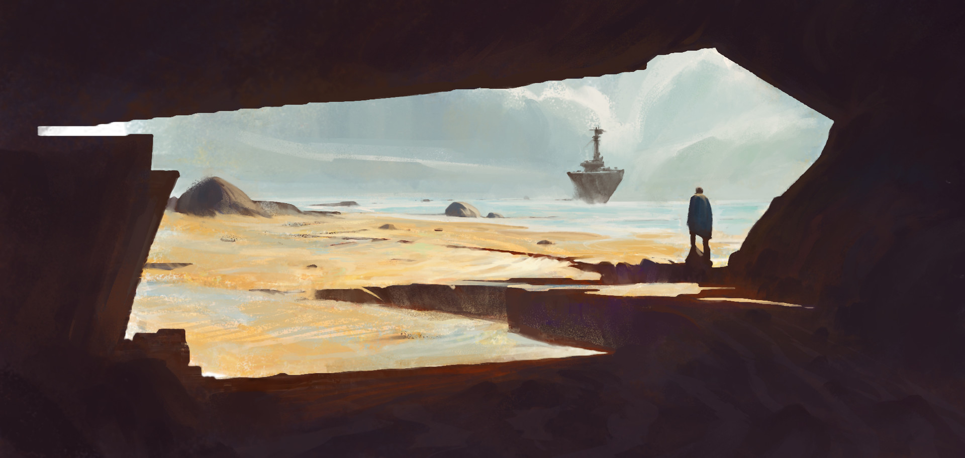 Sathish kumar environment painting ship arrival 02