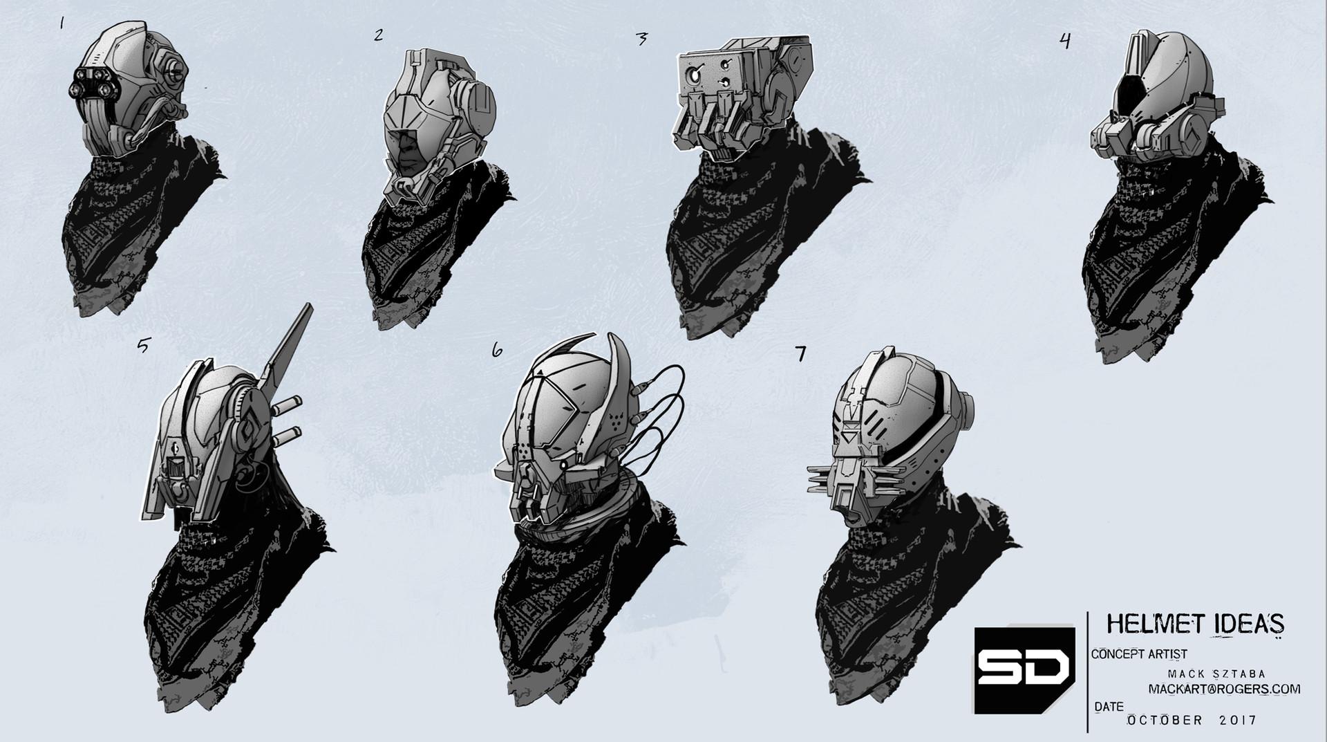 Mack sztaba helmet ideas 1