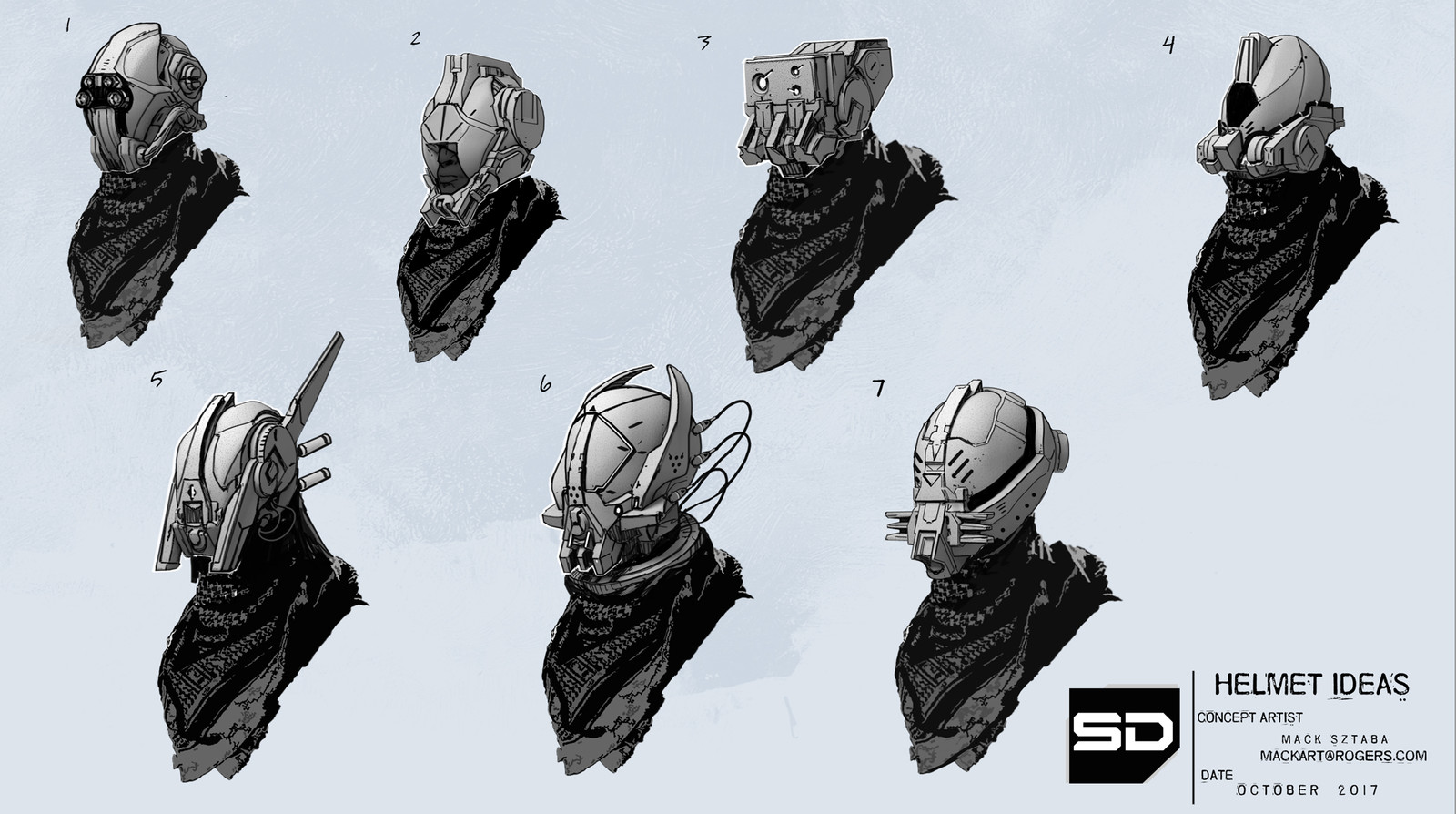 Stormdivers Rough Character Designs