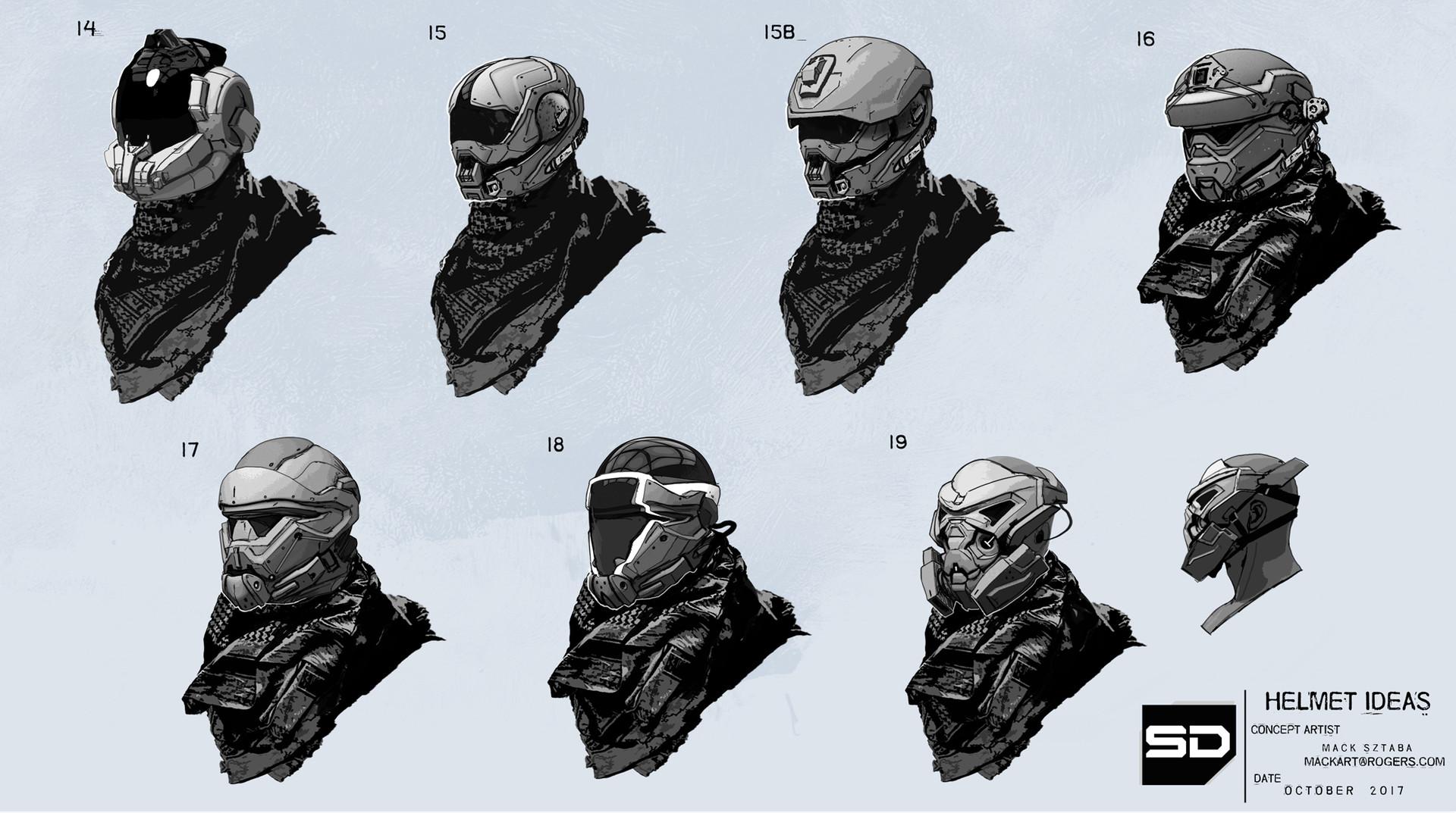 Mack sztaba helmet ideas 3