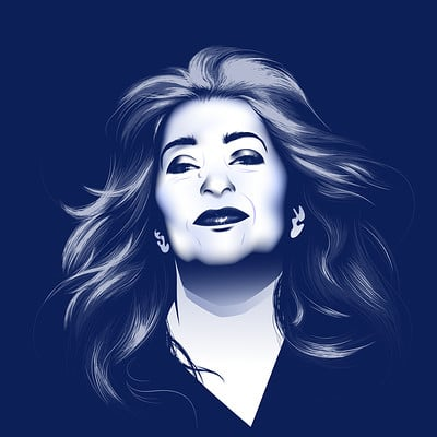 Zaha Hadid Queen of the Curve Portrait
