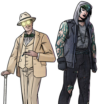 Criminologist character designs