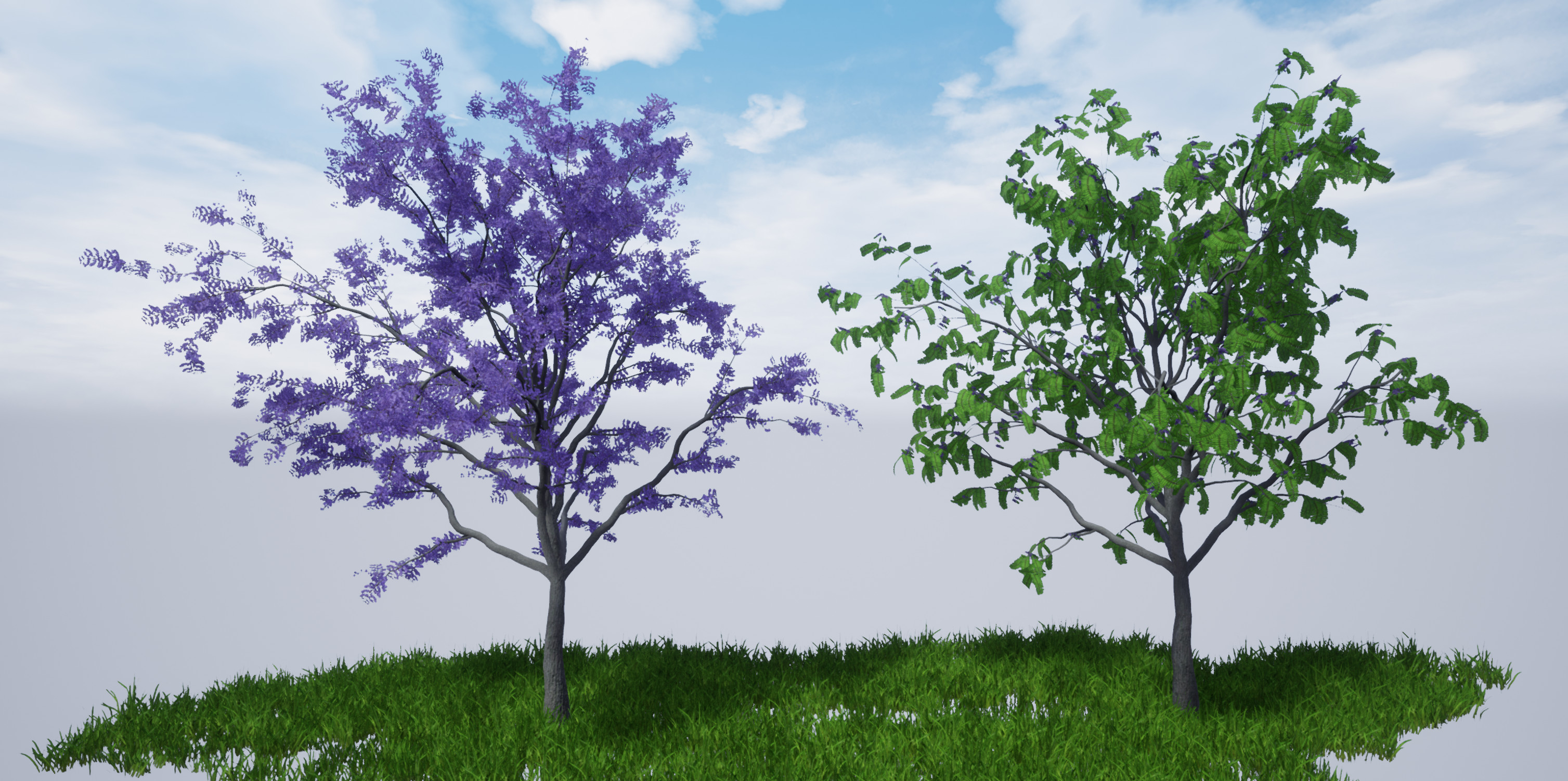 Flower and leaf versions, rendered in Unreal