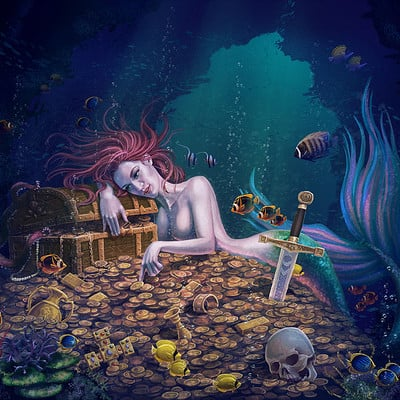Yasushi matsuoka mermaid gold by yasumatsuoka dbzf5g6