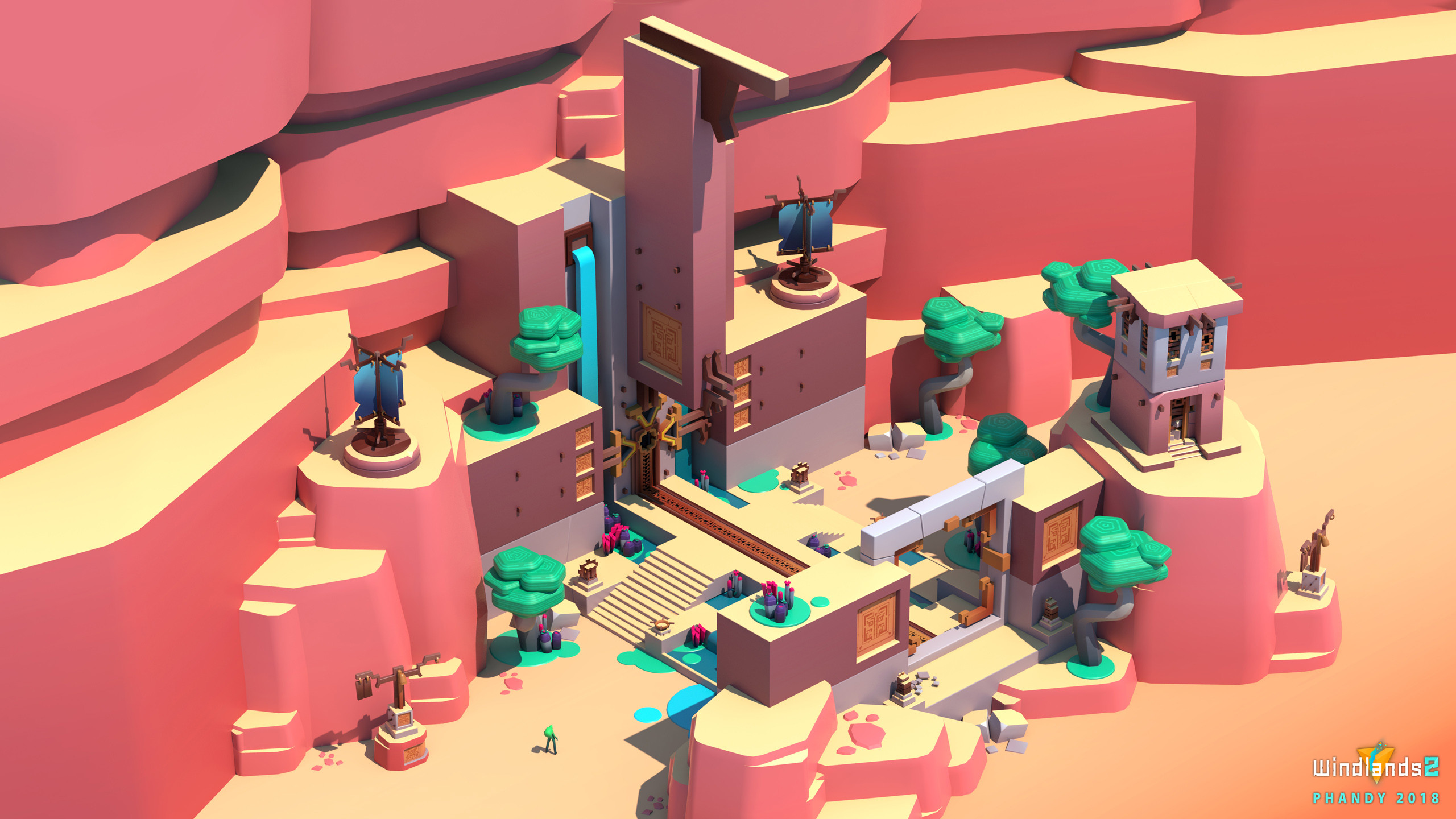 A key area of the game, dressed up with other assets.