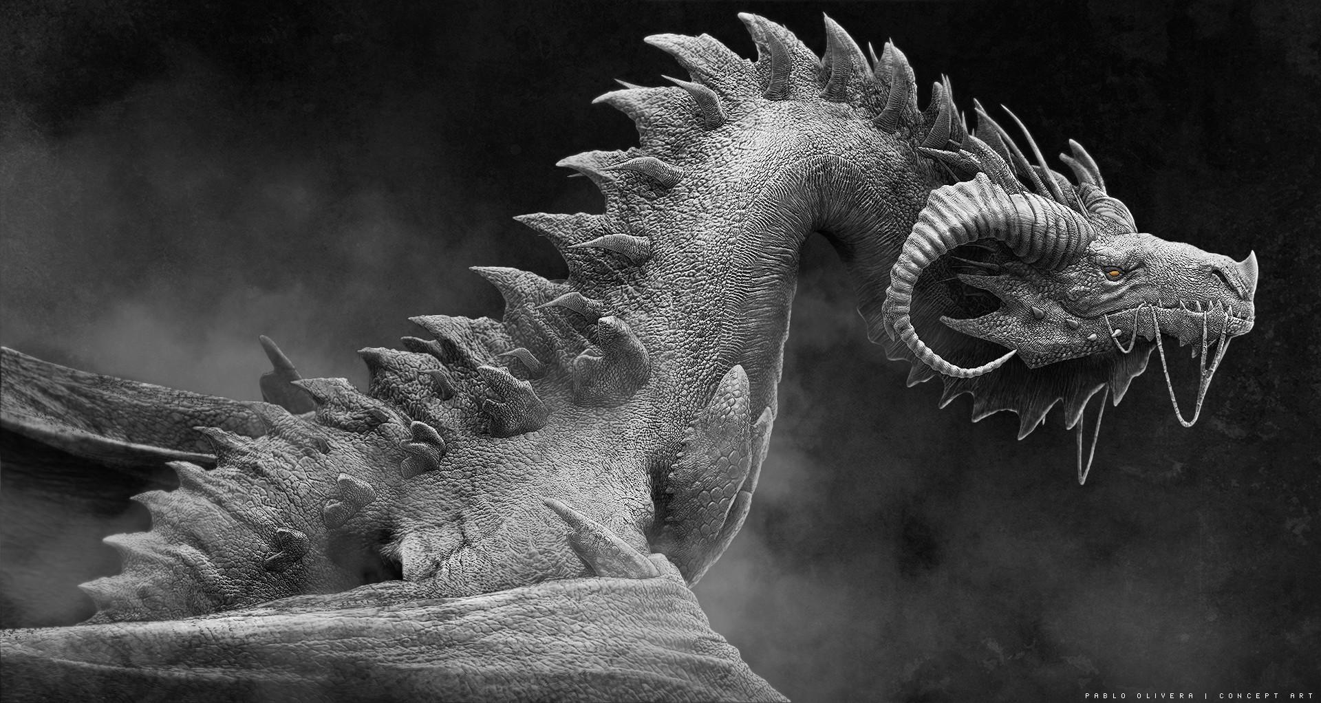 Pablo olivera dragones wacom zbrush 01