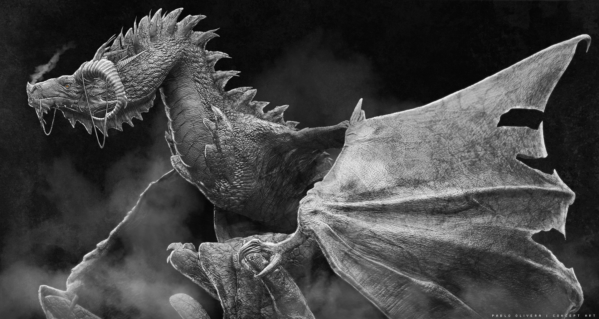Pablo olivera dragones wacom zbrush 03