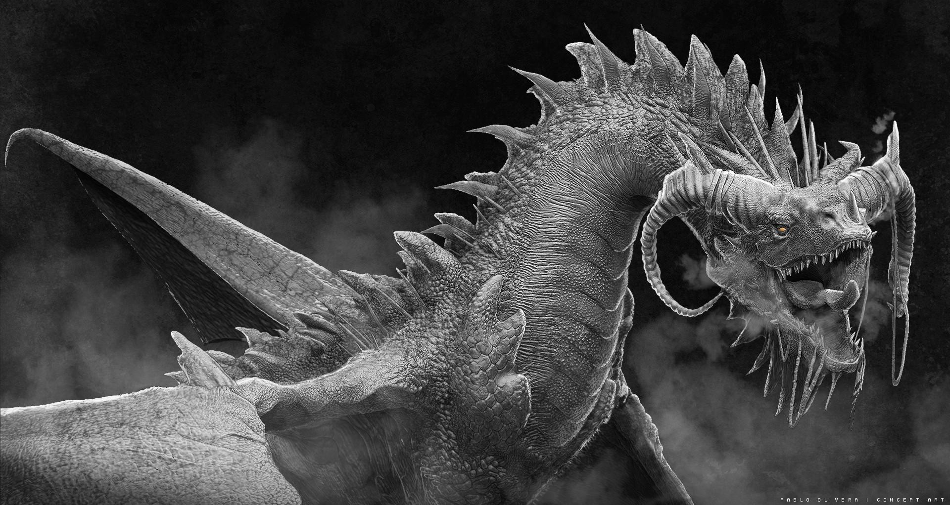 Pablo olivera dragones wacom zbrush 04
