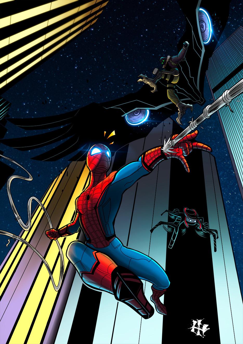 Artstation Spiderman Homecoming Ivan Herranz
