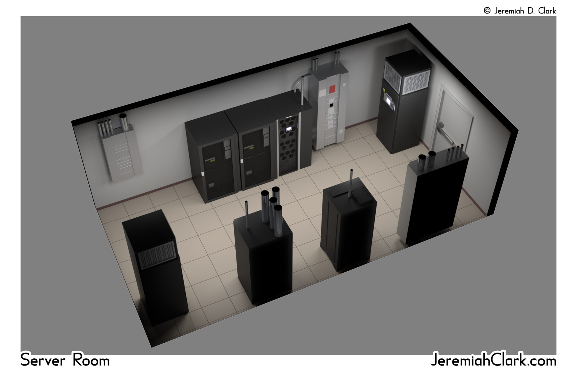 The final server room graphic.