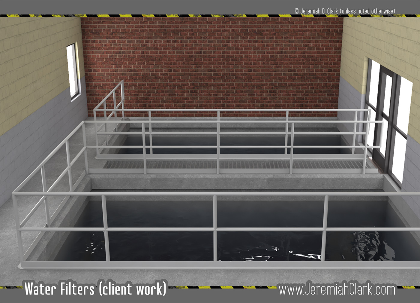 Water Filter Screen. Modeled and textured in 3Ds Max. Rendered with V-Ray.