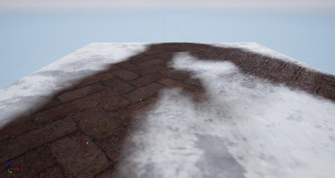 Vertex Painting Snow on Stone Path #2