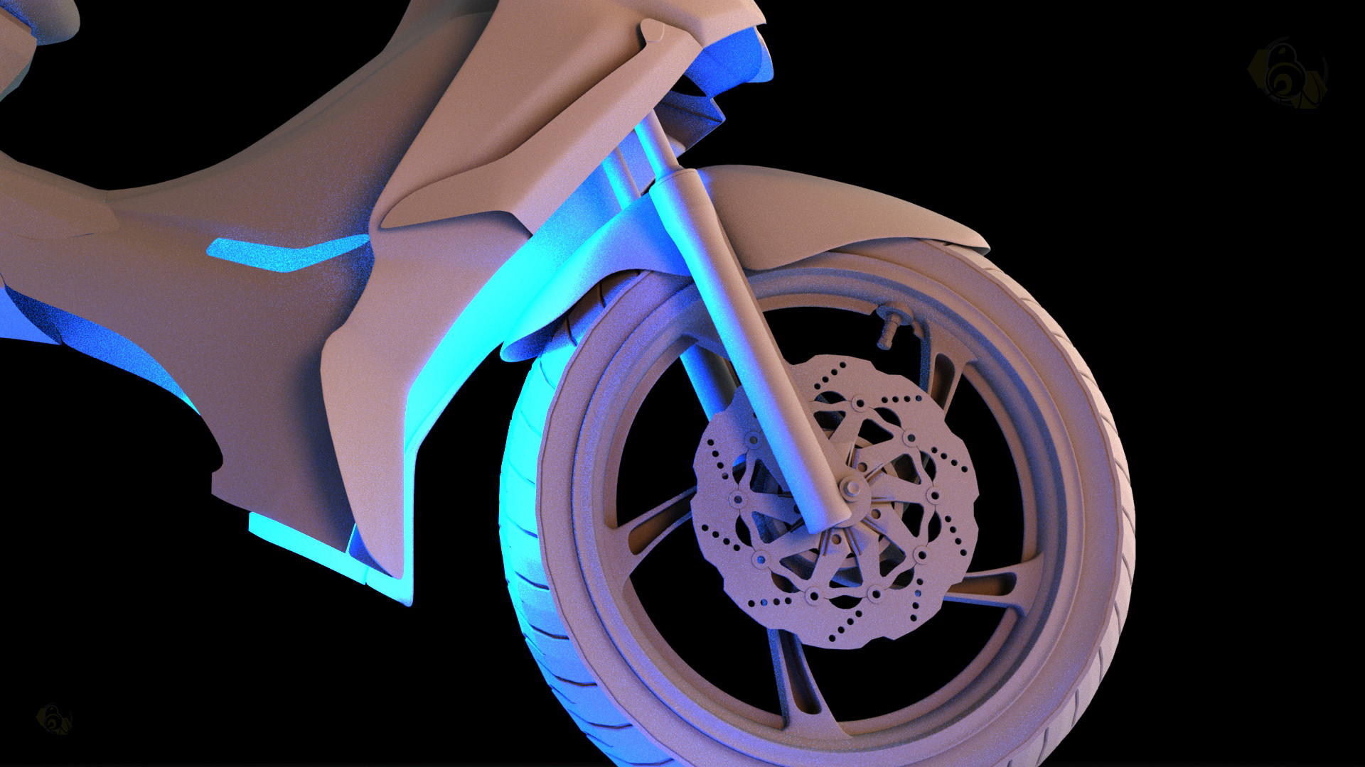 ArtStation - Motorcycle 3D Modeled And Rendered By: Enrick