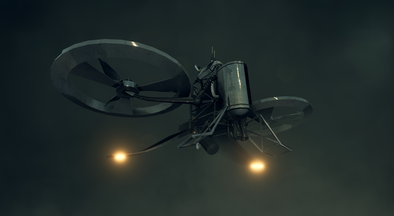 In-engine render of the drone