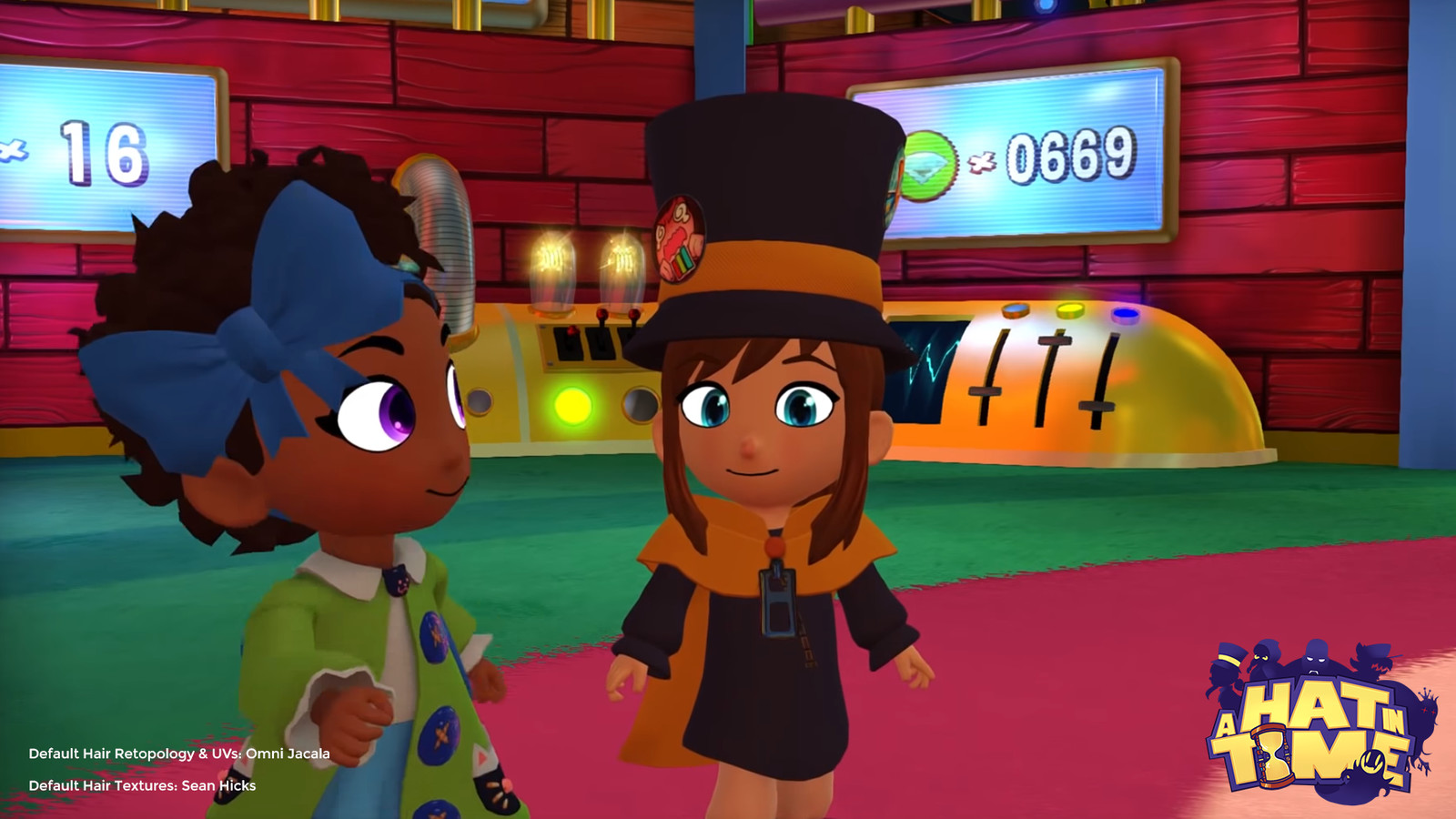 Screencap from the A Hat in Time - Seal the Deal Announcement (Gamescom 2018).