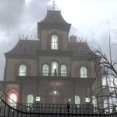 Javier c m mansion phantom manor iluminacion no mist hdr04