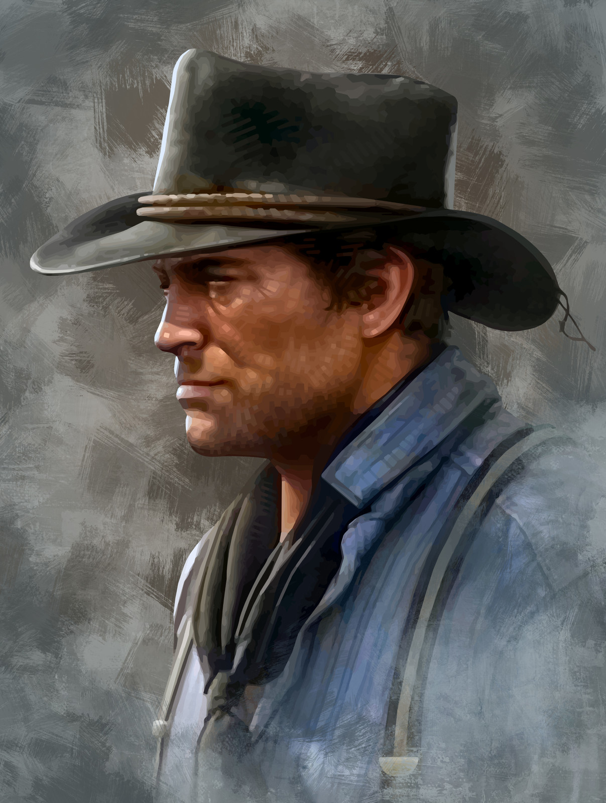 Portrait of Arthur Morgan (Red Dead Redemption 2)