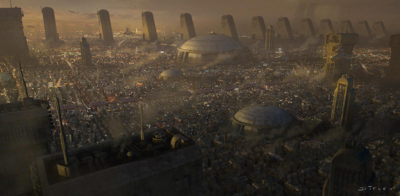 Dusk city