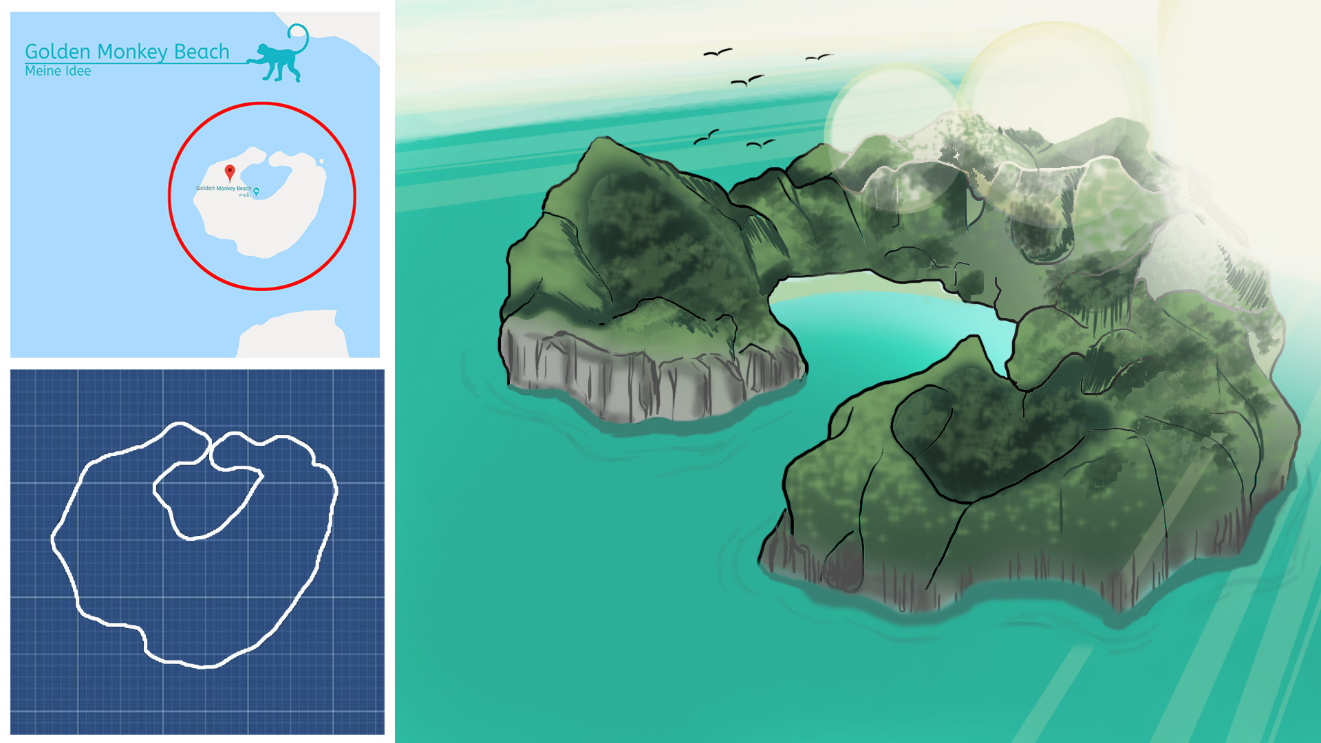 Artstation Golden Monkey Island Game Demo Sarah Kravcenko