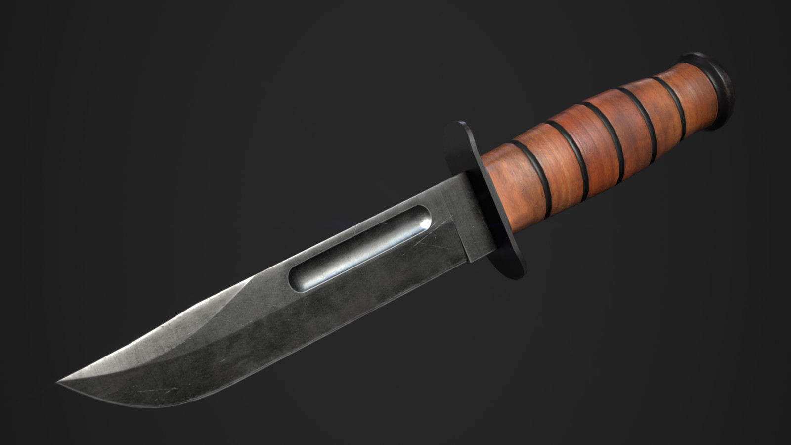 Ka Bar Knife final render