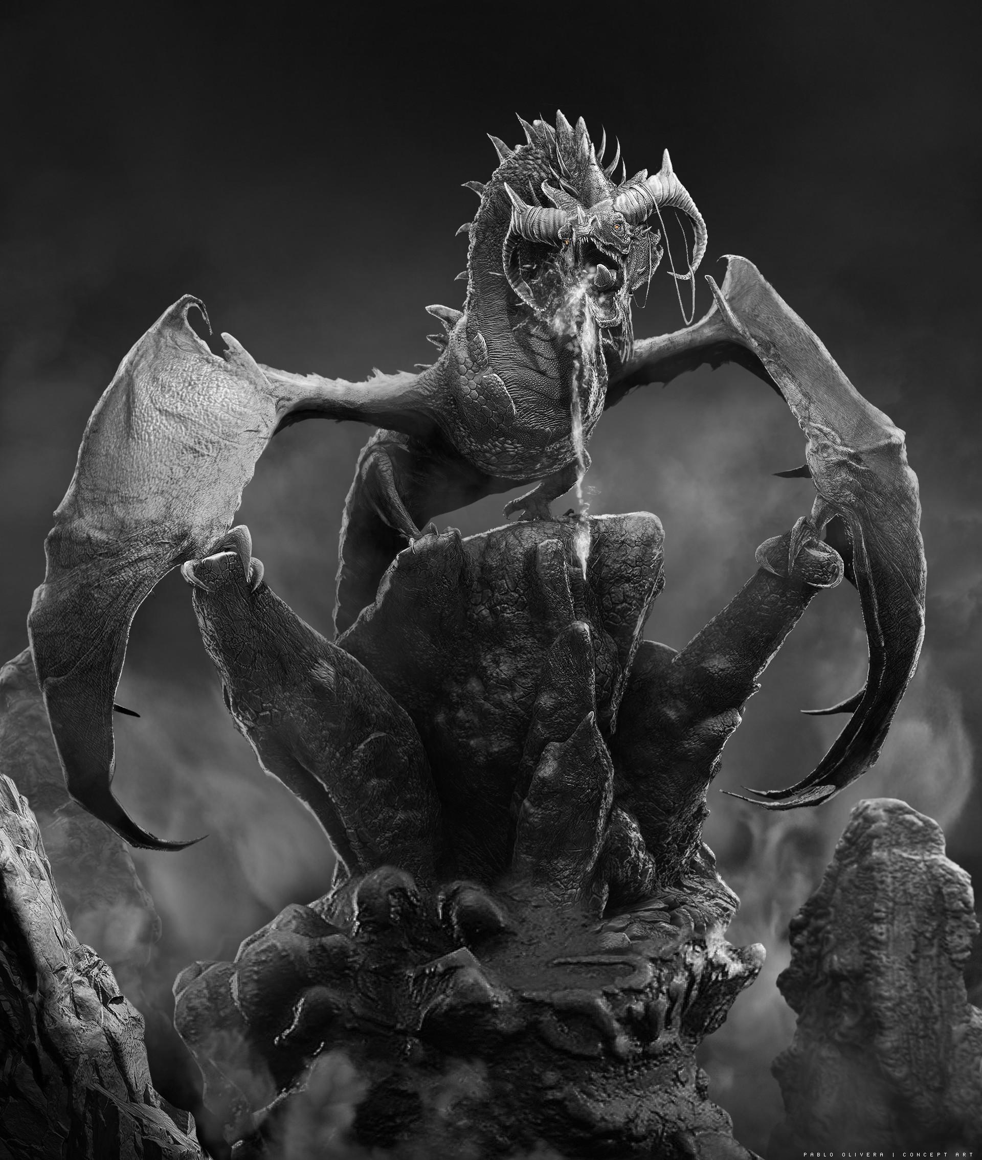 Pablo olivera dragones wacom zbrush 10