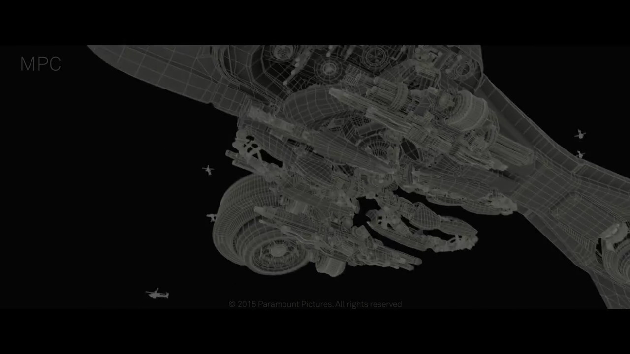 (Terminator: Genisys - MPC) Spider Tank and Hunter Killer - Made both assets start to finish with Giuseppe Bufalo adding refinements to the HK. Designed how Spidertank integrates with the HK