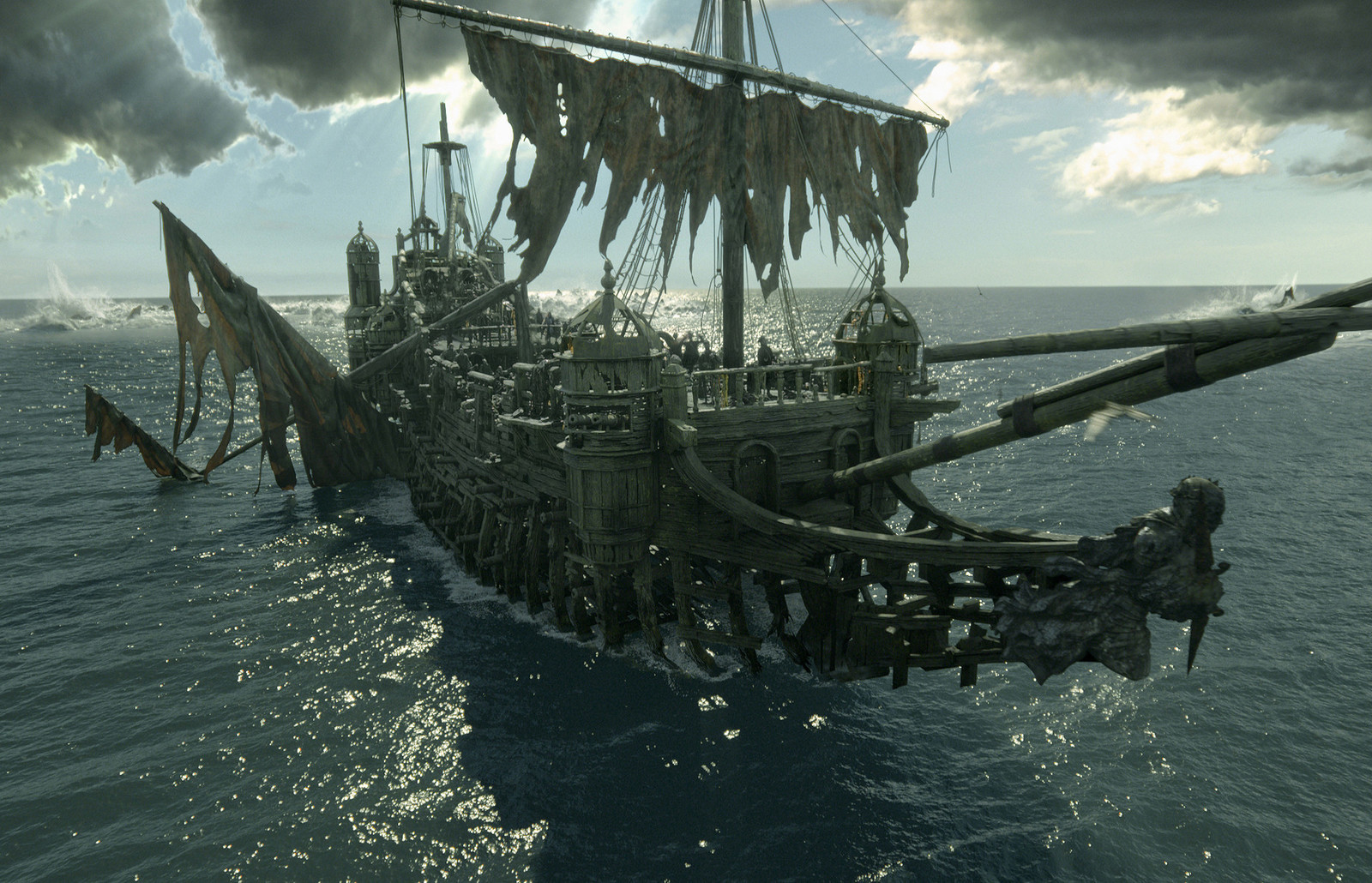 (Pirates of the Caribbean: Dead Men Tell No Tales  - MPC) The Silent Mary - First artist on the asset concepting how the Silent Mary will open and animate. Worked on the modelling team making half the ship