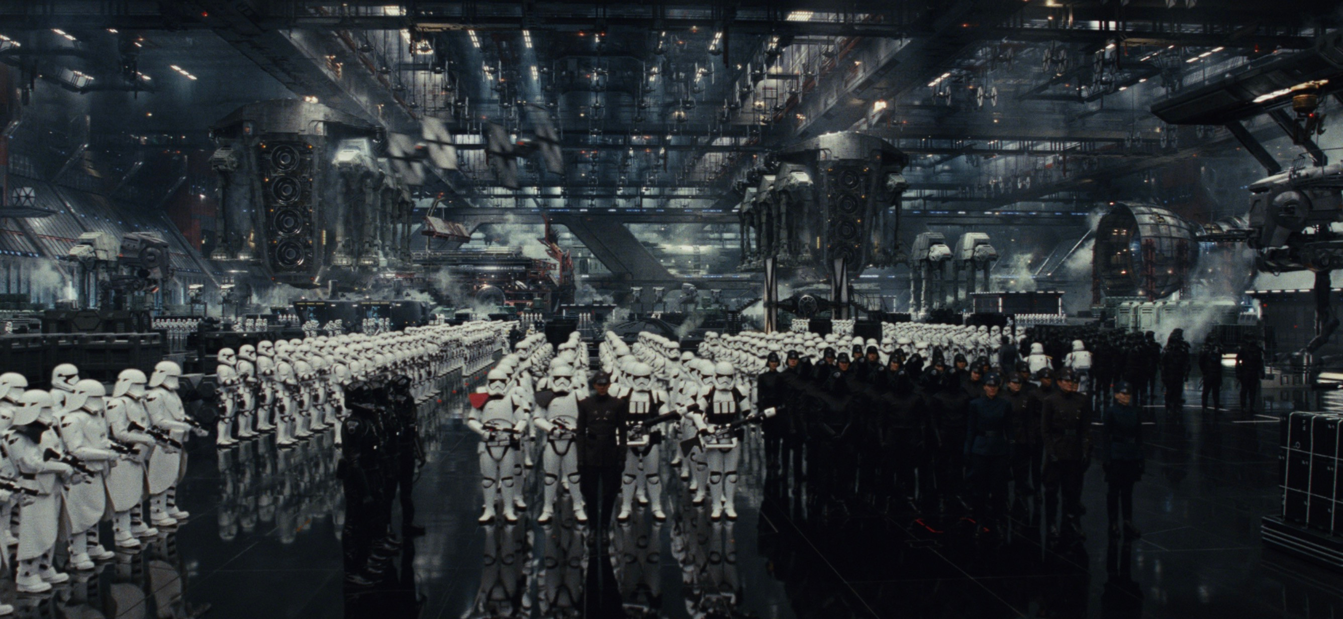 (Star Wars: The Last Jedi - ILM) First Order Hangar -Worked closely with generalists to make all modular Structural components, lots of set dressing parts and ATAT Carrier