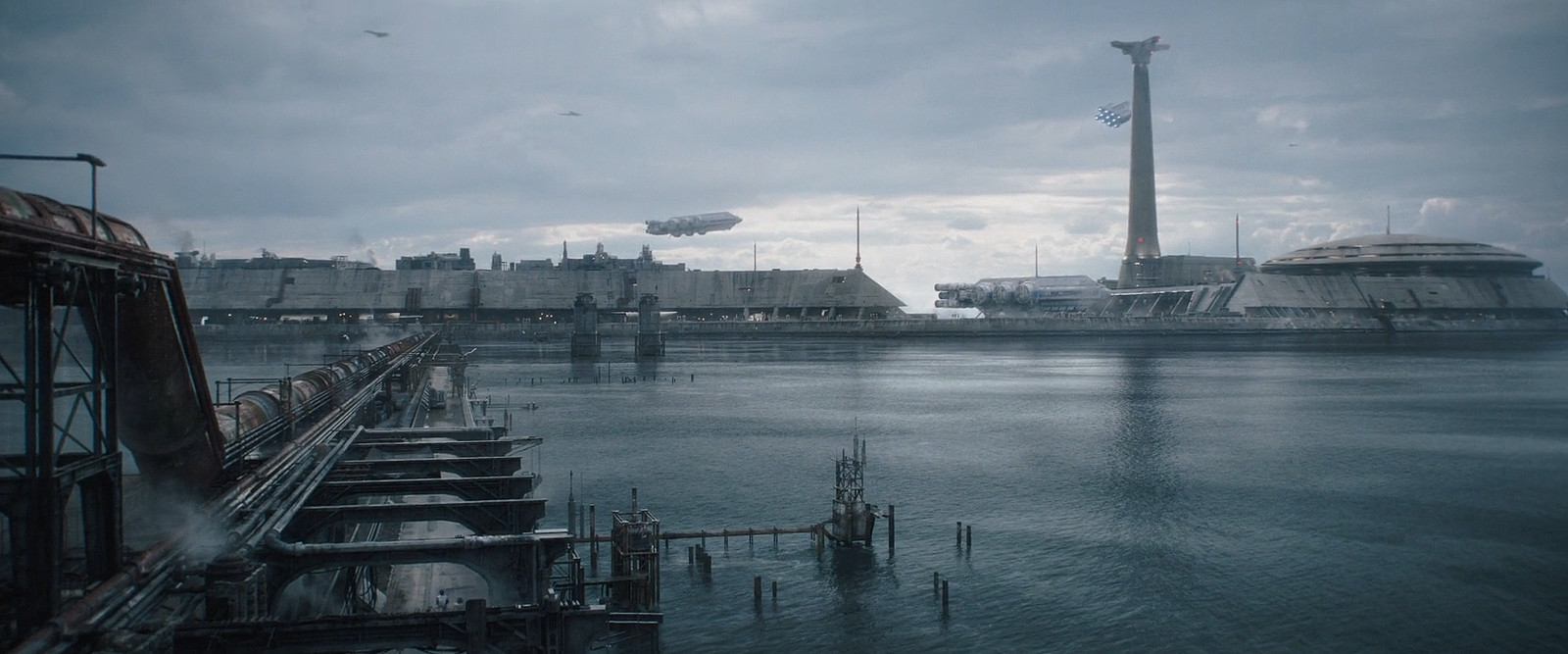 (Solo: A Star Wars Story - ILM) Corellia Starport _ worked closely with Gen to make modular structures for the whole Starport