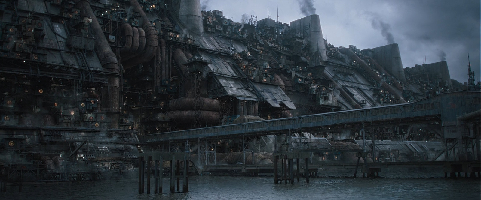 (Solo: A Star Wars Story - ILM) Corellia Starport _ worked closely with Gen to make modular structures for the whole Favela
