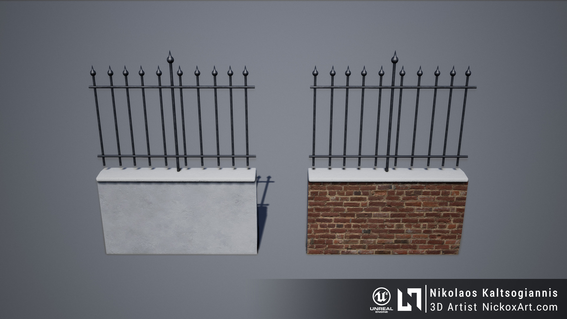 Example of Texture variation of the props used for Vertex Painting in UE4.