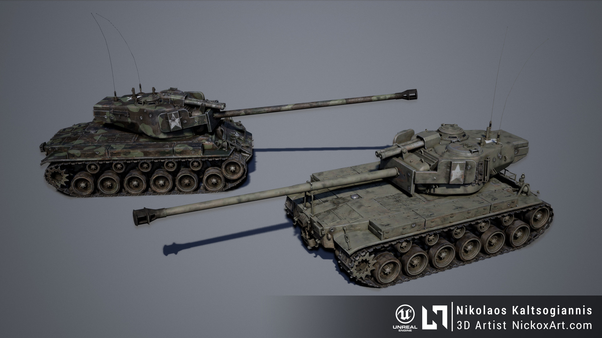 T26E4 Super Pershing Heavy Tank Texture Variations.