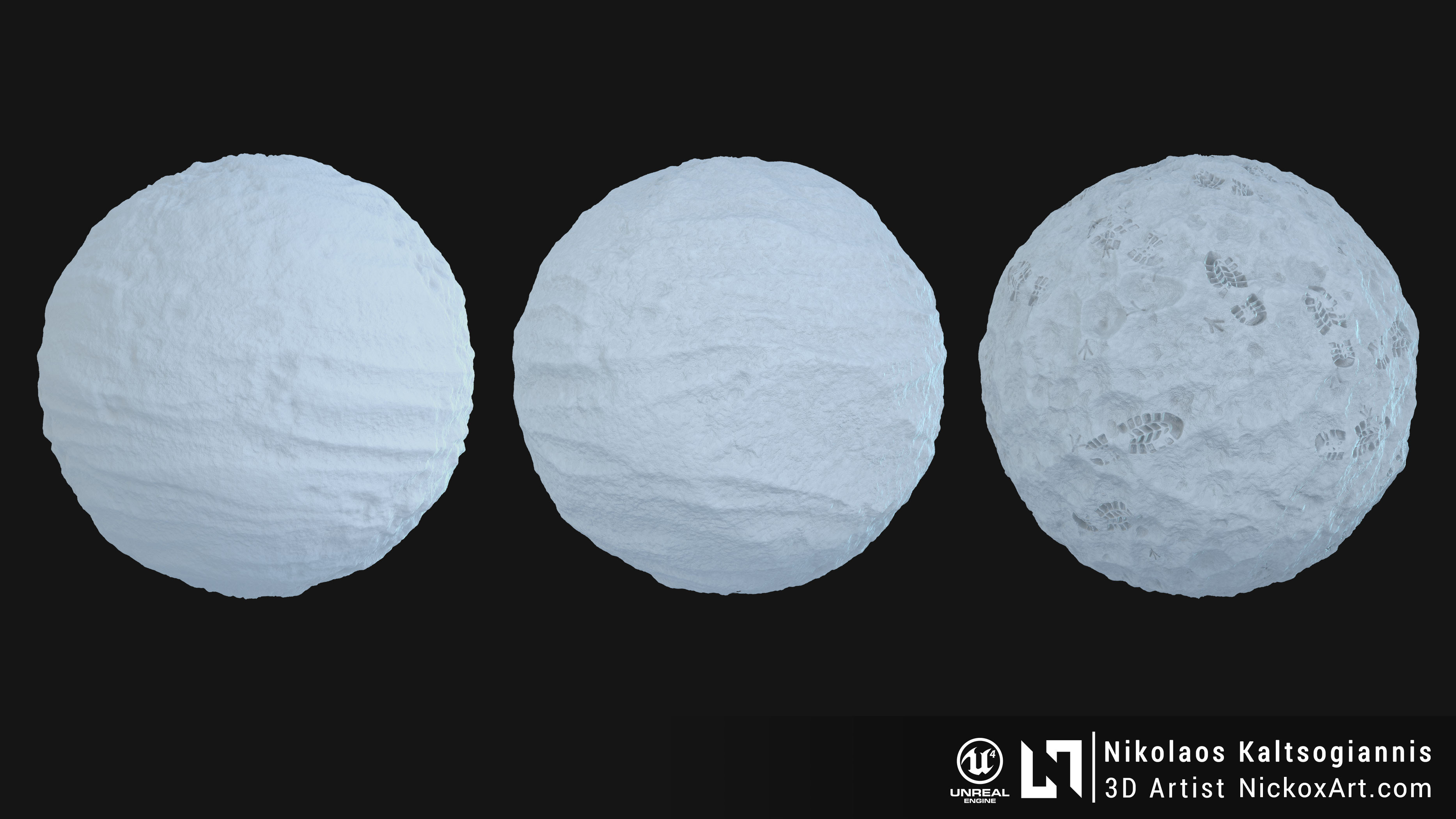Procedural Snow Material 100% Substance Designer.