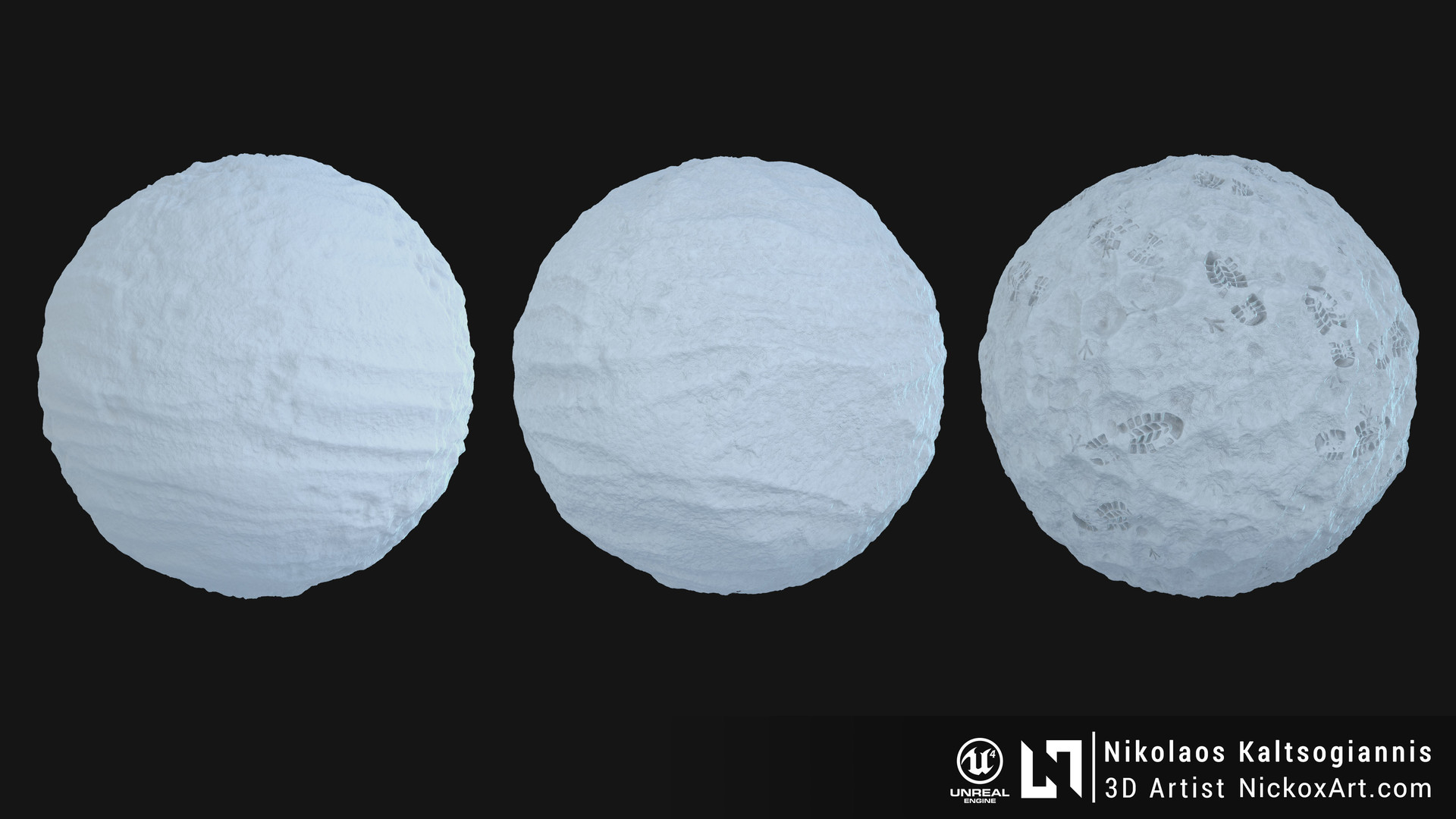 Procedural Snow Material 100% Substance Designer.