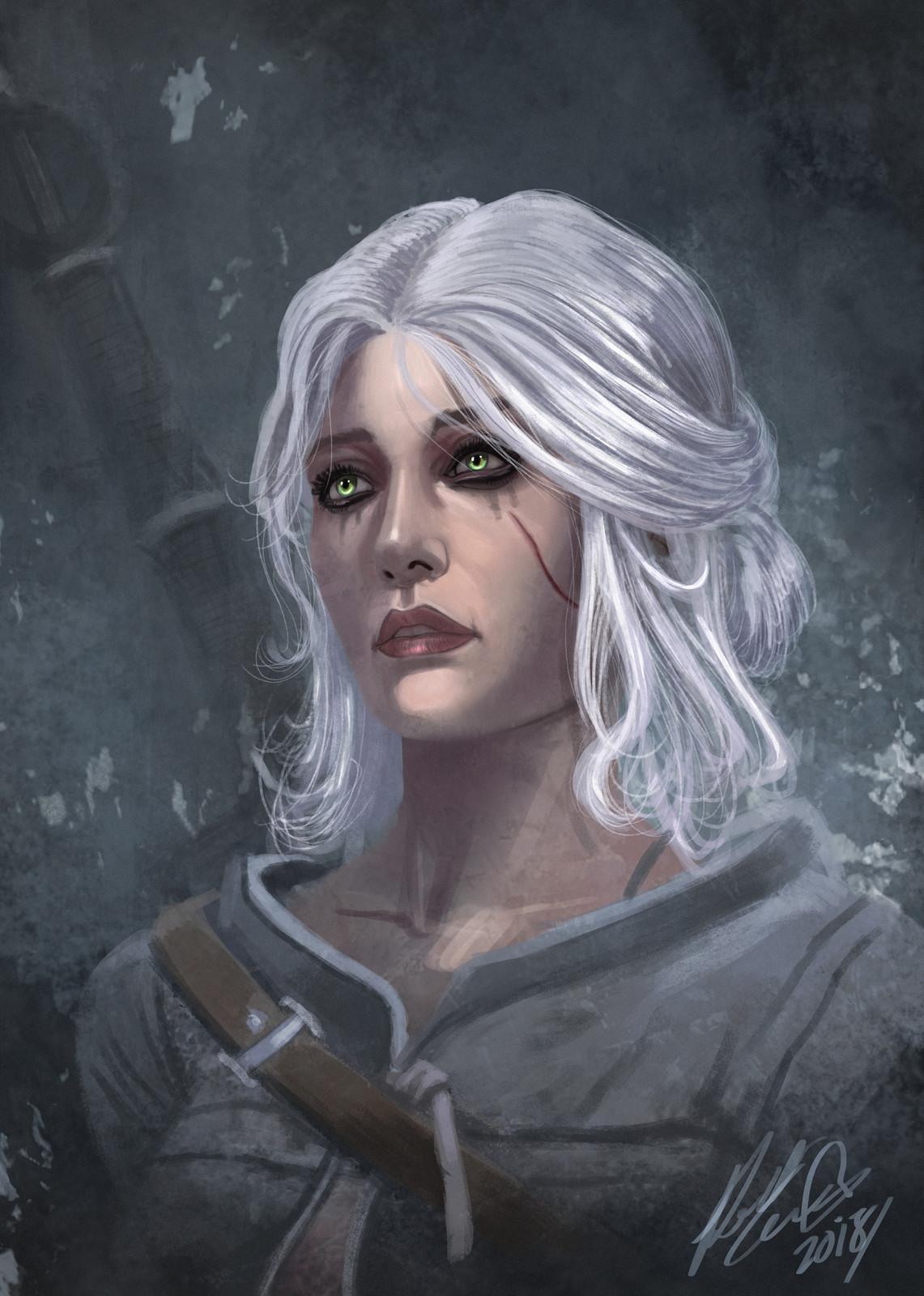 Ciri - Witcher 3 Fan art