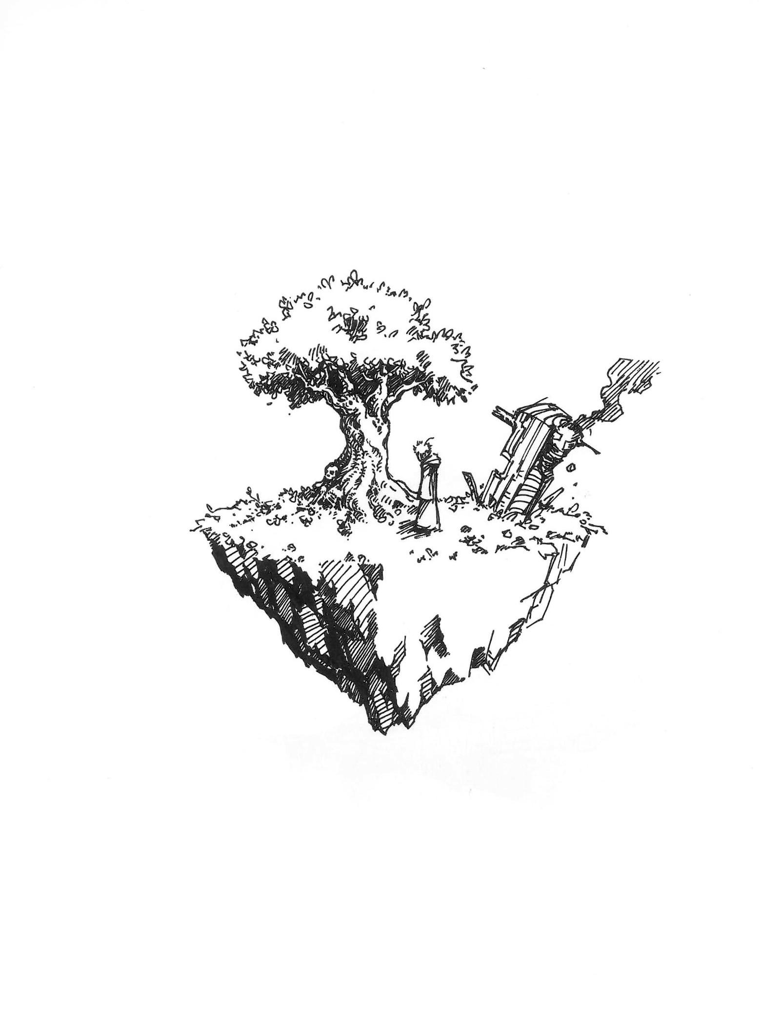 Lee Dabeen. Screwed. 2018. Pen on paper, 297 x 210 mm.