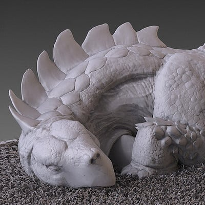 Jia hao 2017 tortoisaurussleeping digitalsculpting 01