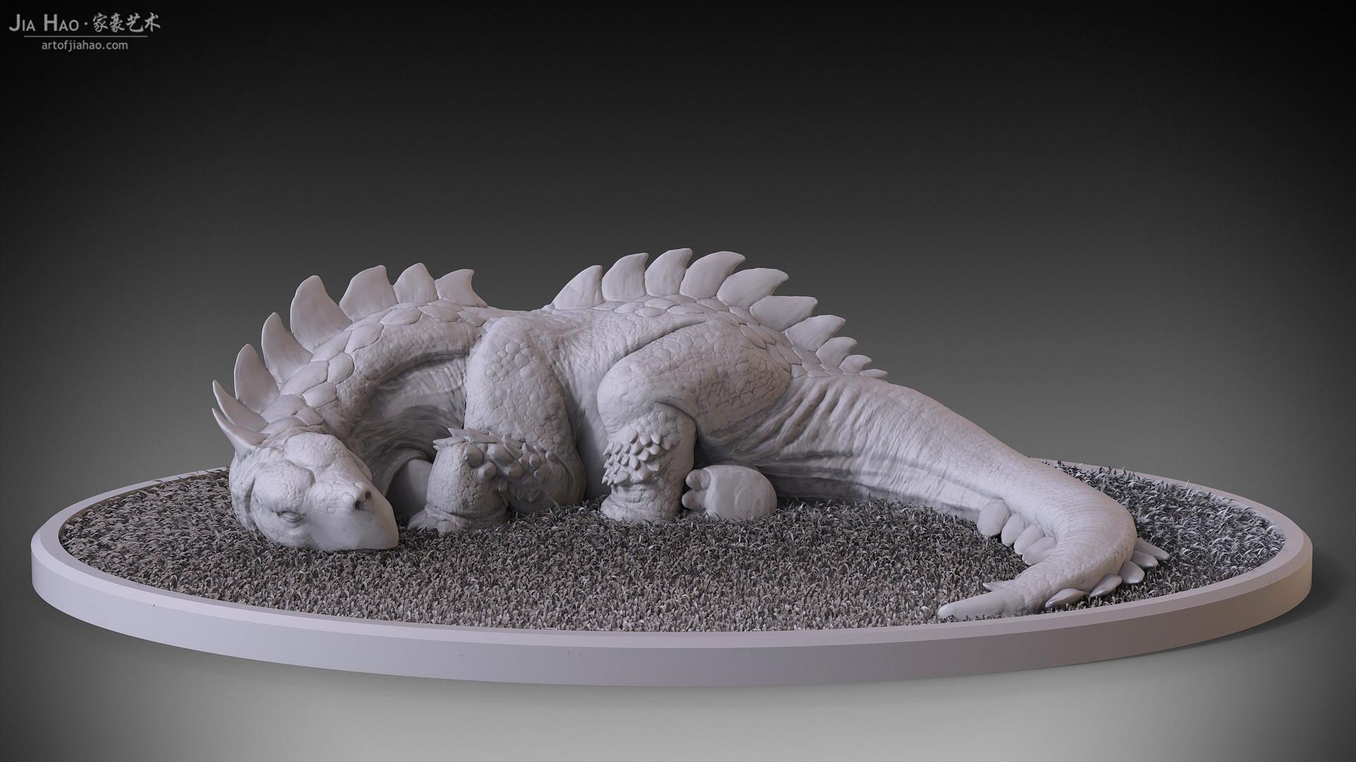 Jia hao 2017 tortoisaurussleeping digitalsculpting 01
