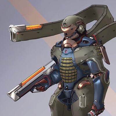 Garrett post fury garrettpost humanfaction1 armor linesketch1