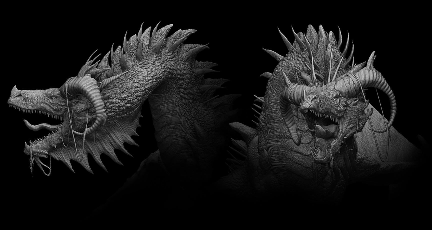 Pablo olivera zbrush document dragon