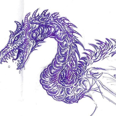Christopher mckiernan dragon drawing 2
