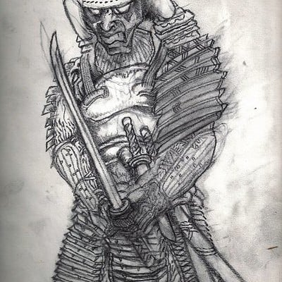 Christopher mckiernan samurai drawing
