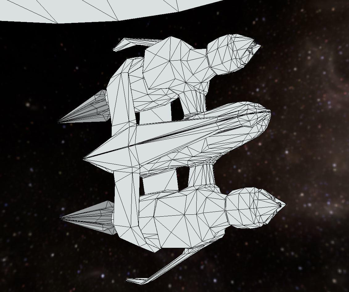 Star fighter (wireframe)
