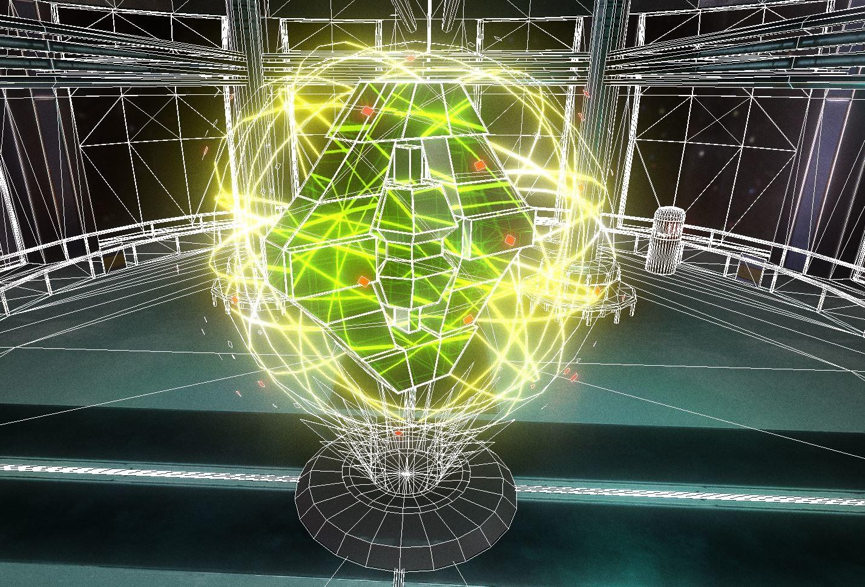 Radar hologram (wireframe)