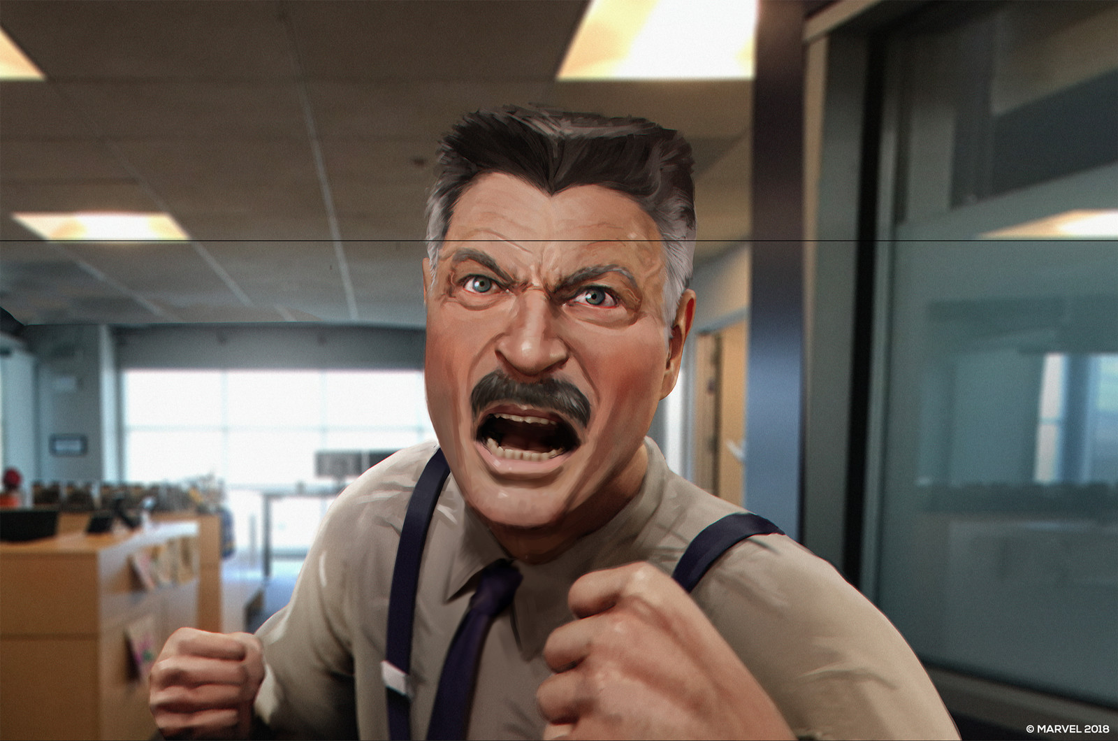 The portrait of angry J. Jonah Jameson. This one was one of the most fun to do. Everytime I sent it over I got asked to make him angrier and more intense. This is what we ended up with.