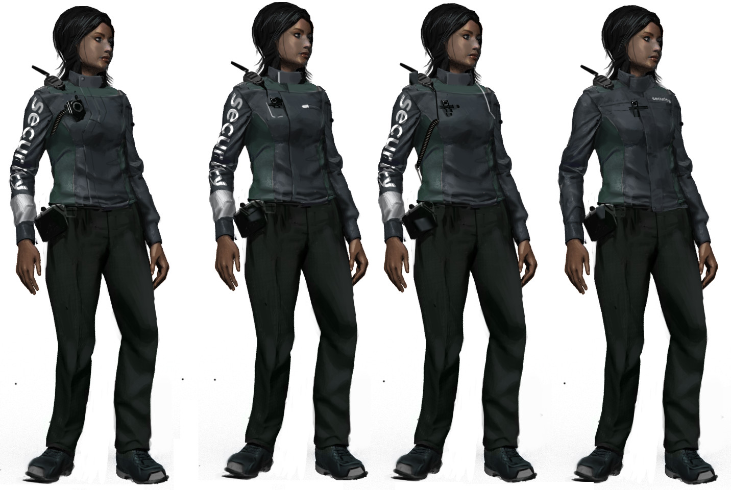 Security Guard costume variants