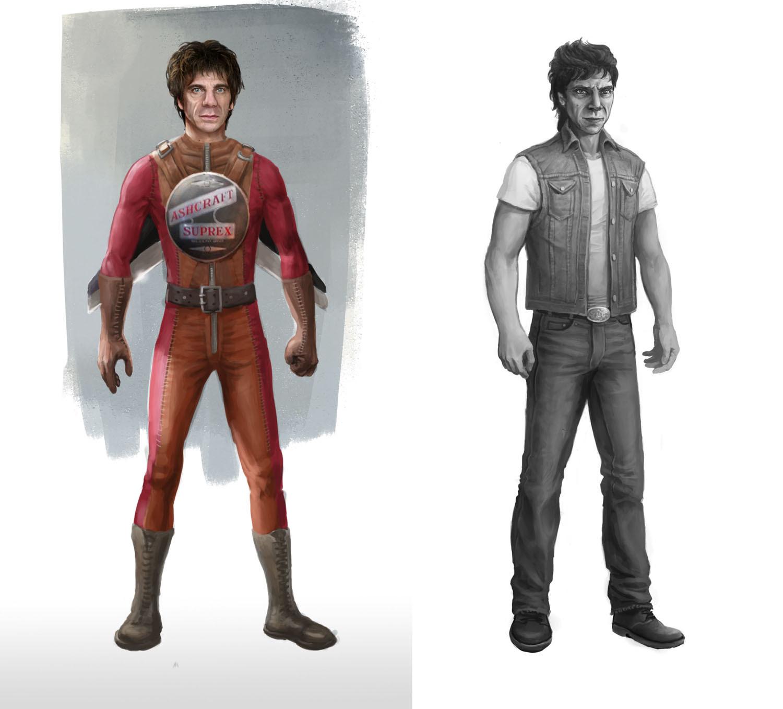 Main character as superhero & normal identity.