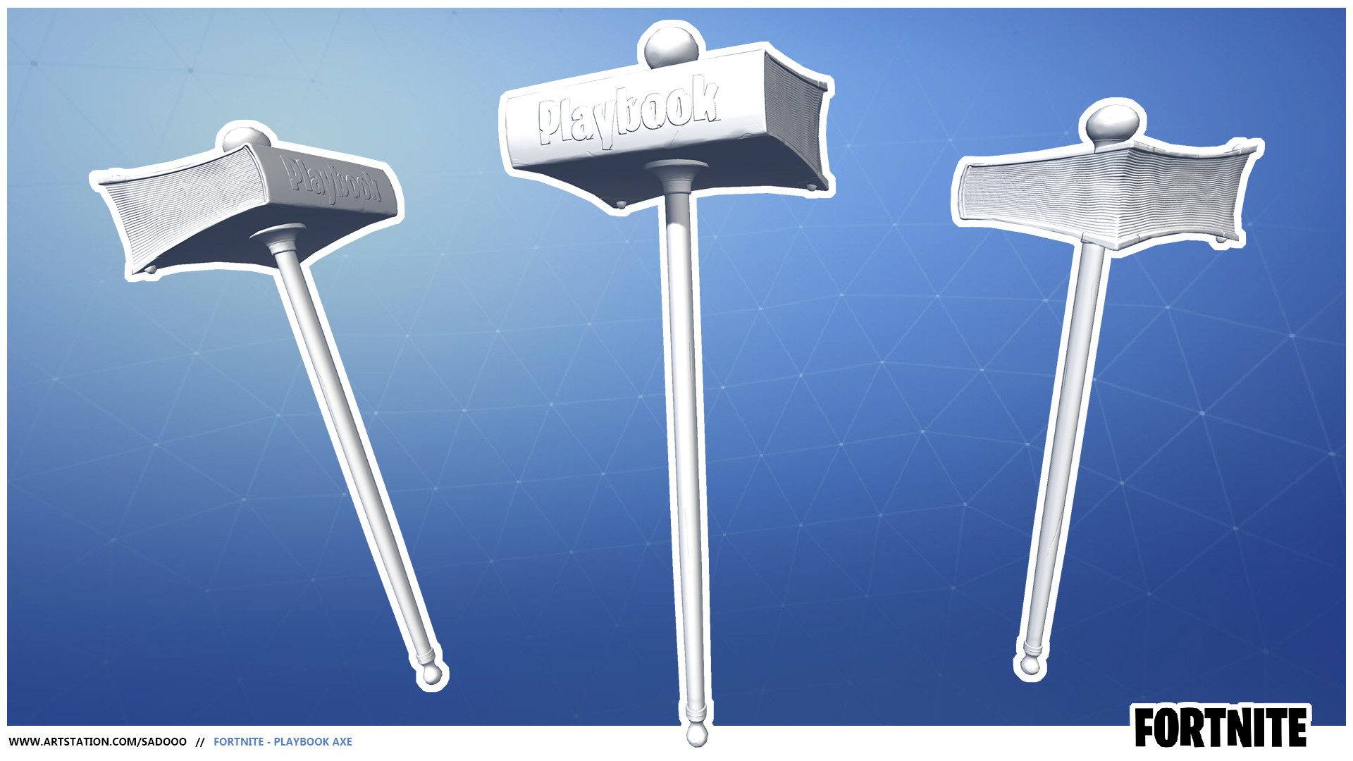 ArtStation - Fortnite - Pickaxes, Daniel Štoček
