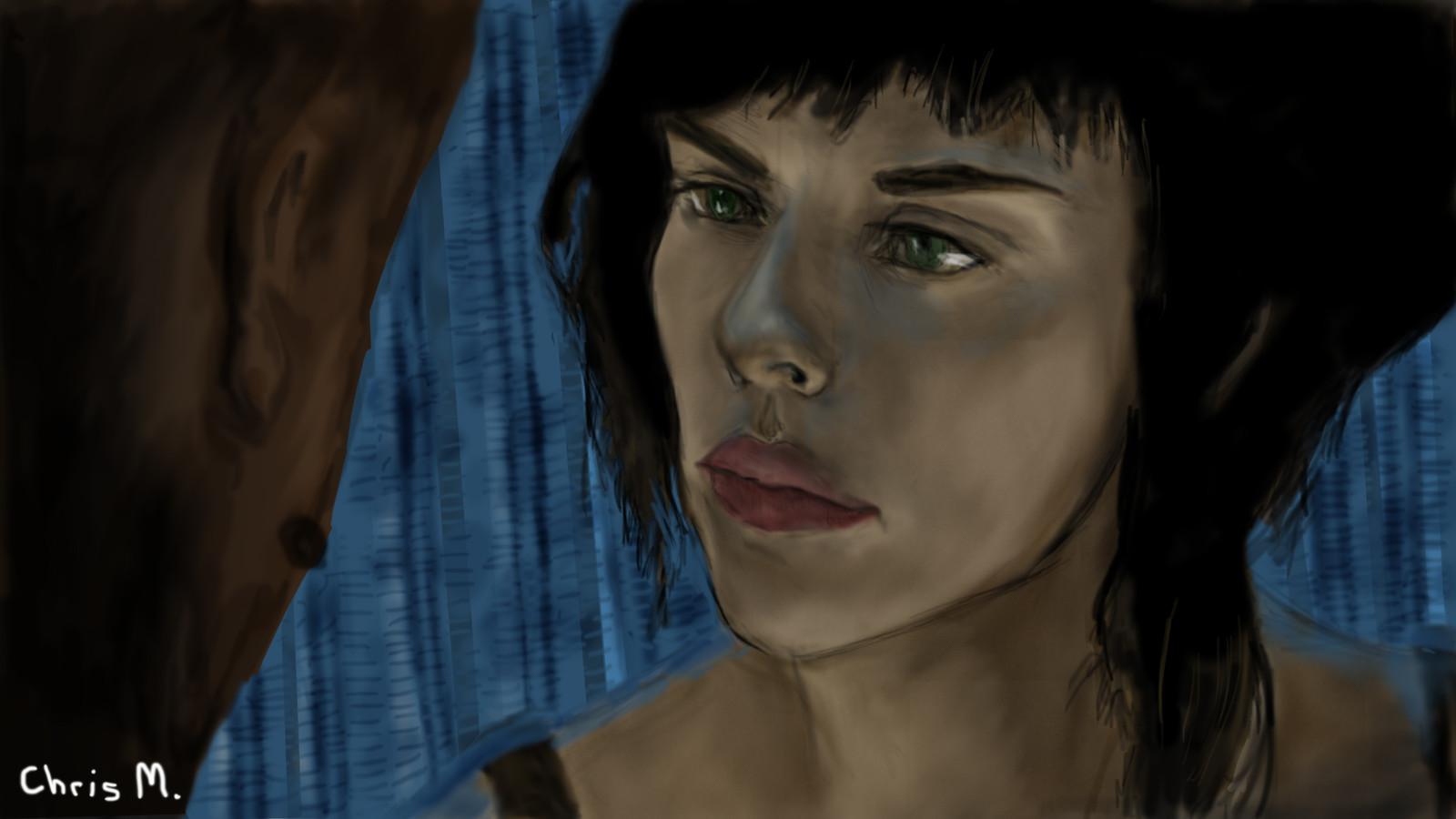 Artstation Scarlett Johansson Ghost In The Shell Fan Art