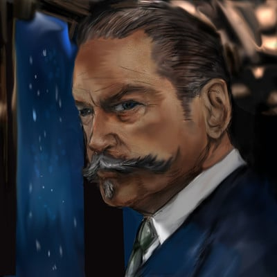Christopher mckiernan hercule poirot murder on the orient express fan art